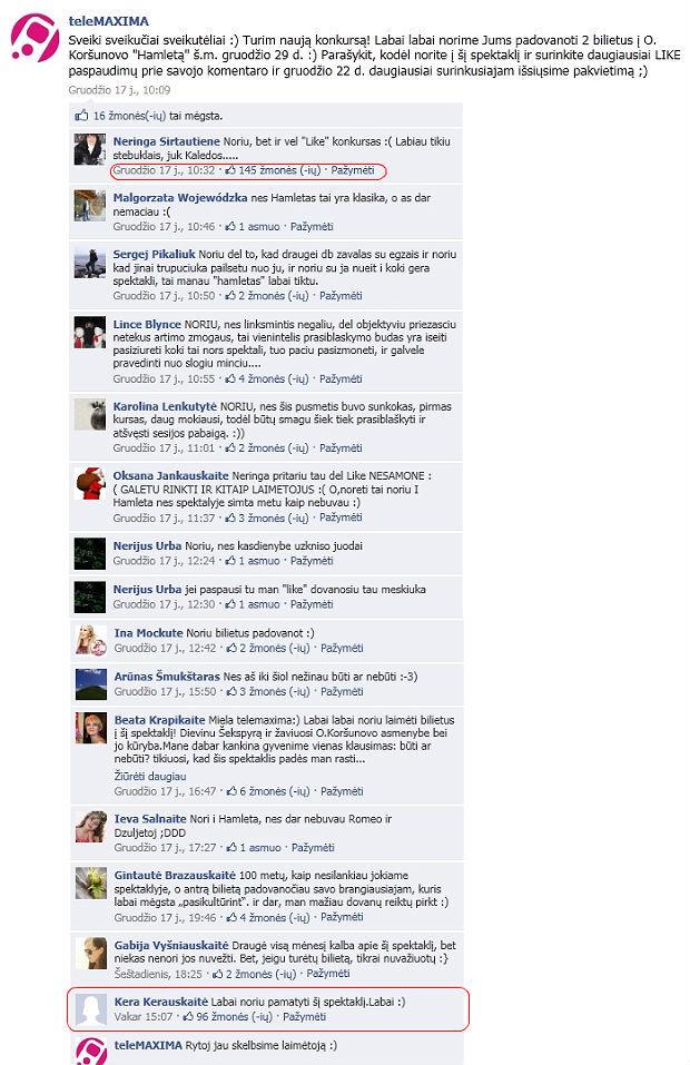 """Baisi neteisybė – Facebook """"laikų"""" konkursai"""